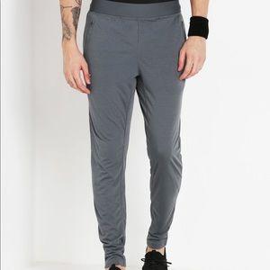 Under Armour Men's Striped Gray Track Pants Medium